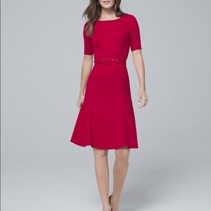 WHBM Belted A-line Dress - Size 2P